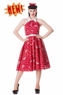 Red Calamity Bandana 50s Dress by Hell Bunny