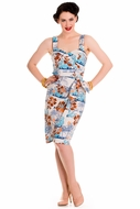 NEW! Tiki Hawaiian Sarong Dress by Hell Bunny