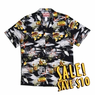 Tropical Fish Authentic Hawaiian Aloha Shirt - Black
