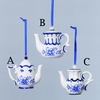 Blue and White and Blue Delft Ornaments