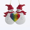 Item # 100012 - You & Me Meant To Be Snow People Ornament