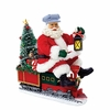 Item # 100039 - Battery Operated Santa On Train With LED Tree Sit Around