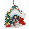 Item # 100042 - Bulldog In House Christmas Ornament