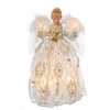 Item # 100052 - Ivory/Gold Angel Tree Topper With 10 Lights
