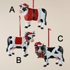 Item # 100079 - Christmas Cow Ornament
