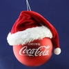 Item # 100087 - Coca-Cola Ball With Santa Hat Christmas Ornament