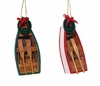 Item # 100130 - Small Wooden Row Boat Christmas Ornament