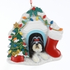 Item # 100143 - Shih Tzu In House Christmas Ornament