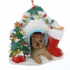 Item # 100147 - Yorkshire Terrier In House Christmas Ornament