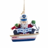 Item # 100171 - Santa Captain In Boat Christmas Ornament