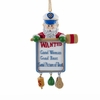Item # 100172 - Wanted Woman Santa Captain Christmas Ornament