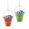 Item # 100200 - Beach Pail With Flip Flops Christmas Ornament