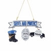 Item # 100203 - Serve & Protect Police Christmas Ornament