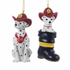 Item # 100208 - Fireman Dalmatian Christmas Ornament