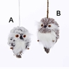 Item # 100262 - Silver & Gray/Brown Owl Christmas Ornament