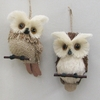 Item # 100274 - Natural Owl Ornament