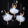 Item # 100337 - White/Silver Ballet Ornament