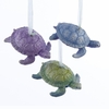 Item # 100383 - Purple/Blue/Green Turtle Christmas Ornament