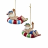 Item # 100387 - Beach Santa Christmas Ornament