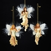 Item # 100478 - Ivory/Gold Angel Christmas Ornament
