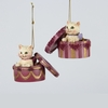 Item # 100531 - Edwardian Kitty In Box Christmas Ornament