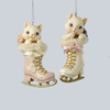 Item # 100533 - Kitten In Ice Skate Ornament