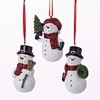 Item # 100547 - Snowman With Broom/Tree/Wreath Christmas Ornament