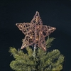"Item # 100592 - 9"" Natural Rattan Star Tree Topper With 10 Lights"