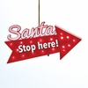 Item # 100594 - Battery Operated Blinking LED Santa Stop Here Ornament