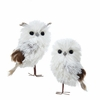 Item # 100699 - Silver/White/Gray Owl Ornament