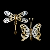 Item # 100785 - Gold/Silver Dragonfly/Butterfly With Clip Ornament