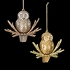Item # 100802 - Brown/Gold Owl Christmas Ornament