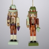 "Item # 100803 - 4"" Wooden Wine Nutcracker Ornament"