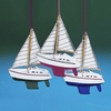 Item # 100818 - Wooden Yacht With Sails Ornament