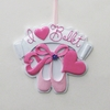 Item # 100828 - I Love Ballet Christmas Ornament