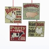 Item # 100859 - Square Farm Animal Saying Ornament