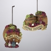 "Item # 100875 - 2.75"" Resin Wine Barrel Ornament"