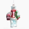 Item # 100877 - Coke Bear With Wreath and Cooler Ornament