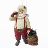 Item # 100950 - Santa Drinking Coke With Sack and Bottles Ornament
