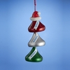 Item # 101005 - Hershey Kisses With Santa Hat Christmas Ornament