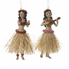 "Item # 101014 - 5.25"" Resin Hula Dancer Christmas Ornament"