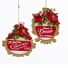 Item # 101023 - Red Birds With Words Ornament