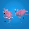 "Item # 101056 - 5.25"" Glass Flamingo Christmas Ornament"