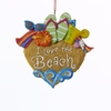 Item # 101066 - I Love The Beach Ornament