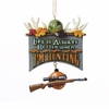 Item # 101085 - Hunting Plaque Christmas Ornament