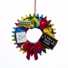Item # 101090 - Crayon Wreath Christmas Ornament