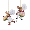 Item # 101198 - Chef Mouse Holding Cupcake Christmas Ornament