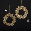 Item # 101259 - Gold Wreath Ornament