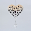 Item # 101267 - Blush Heart With Clear Stone Christmas Ornament