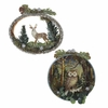 Item # 101284 - Deer/Owl Round Frame Ornament